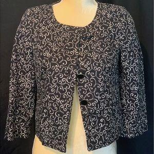 Ann Taylor Loft Black and White light jacket